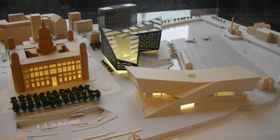 model of proposed developments on Liverpool's waterfront