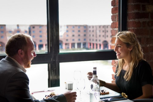 couple having a romantic meal in the Maritime Dining Room