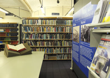 interior of maritime archives and library
