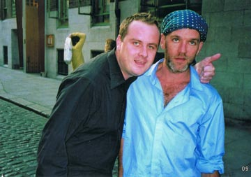 Photograph of Dickie Felton and Michael Stipe
