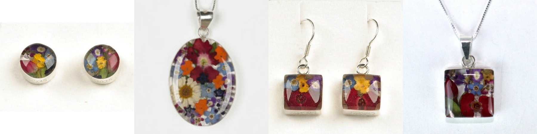 Shrieking Violet Mixed Flowers Jewellery Collection