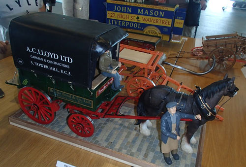 model of a carter with his horse and cart