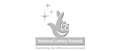 logo with text 'National Lottery Awards. Celebrating the difference you've made'