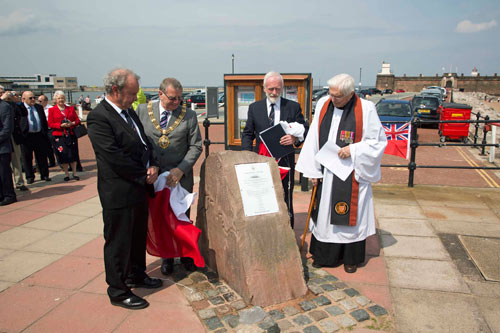 memorial being unveiled at New Brighton waterfront