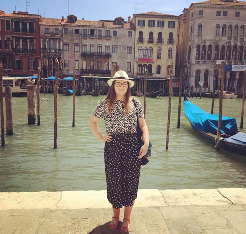 Nicola at the Grand Canal in Venice.