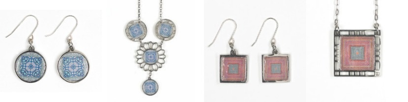 NOA Jewellery Collection blue pink silver