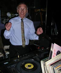 Norman Killen at the turntable