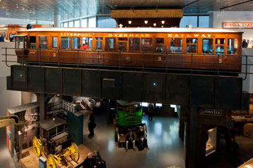 The overhead railways carriage in Museum of Liverpool