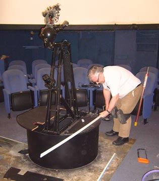 Staff in the planetarium