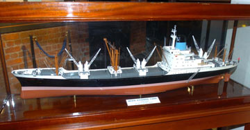 Blue Funnel ship model