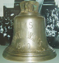 colour photo of a shiney bell