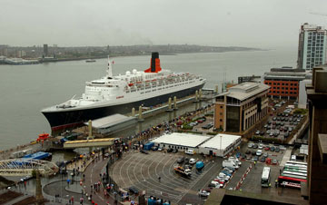 photo of a huge liner docked at Liverpool