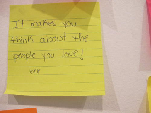 "Post it now with text ""It makes you think about the people you love!"""
