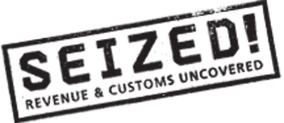 Seized! Revenue and Customs uncovered logo
