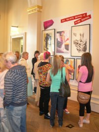 People view art work at Showcase exhibition
