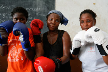 women boxers in Sierra Leone
