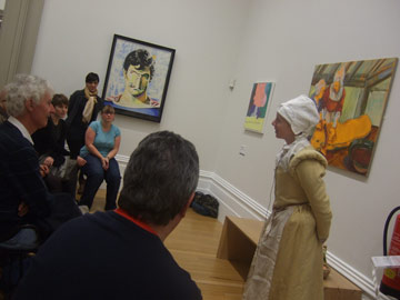 Artist gives talk in gallery