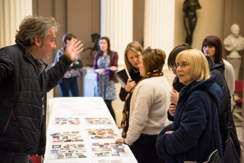 Simon speaks to visitors about the plans for the gallery.