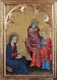 'Christ Discovered in the Temple', Simone Martini