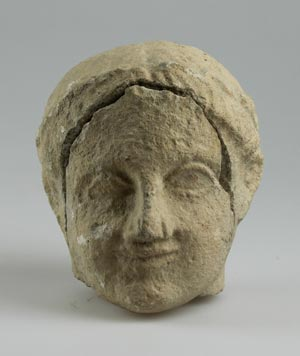 Head of a temple boy