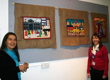Display of textiles