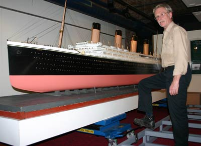Conservator with Titanic model