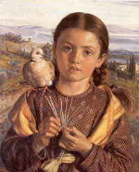'The Tuscan Girl', William Holman Hunt
