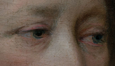detail of eyes from a painting