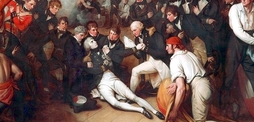 'The Death of Nelson' by Benjamin West