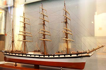 Model of a masted ship