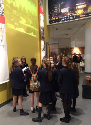 students in the Global City gallery