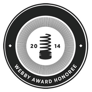 Webby award nominee badge