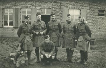Soldiers from the Liverpool Scottish Battalion
