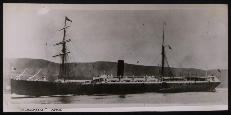 Photograph of Furnessia, Anchor Line card