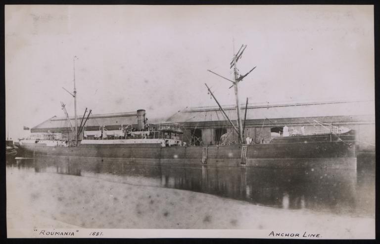 Photograph of Roumania, Anchor Line card