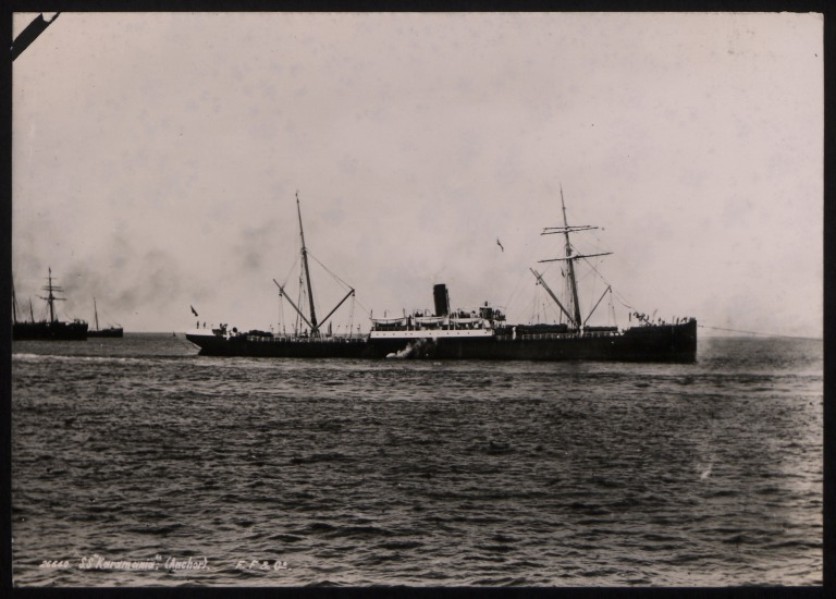 Photograph of Karamania, Anchor Line card