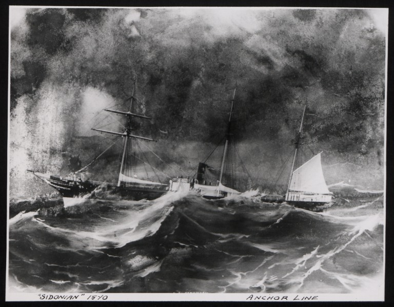 Photograph of Sidonian, Anchor Line card