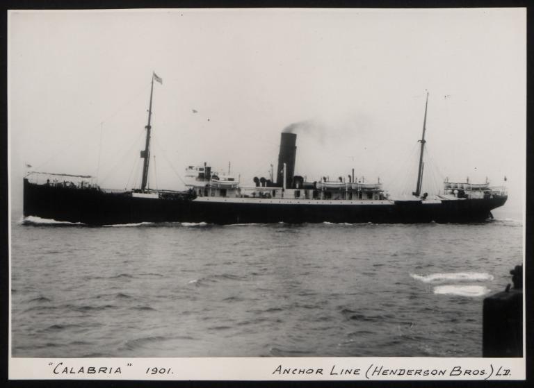Photograph of Calabria, Anchor Line card