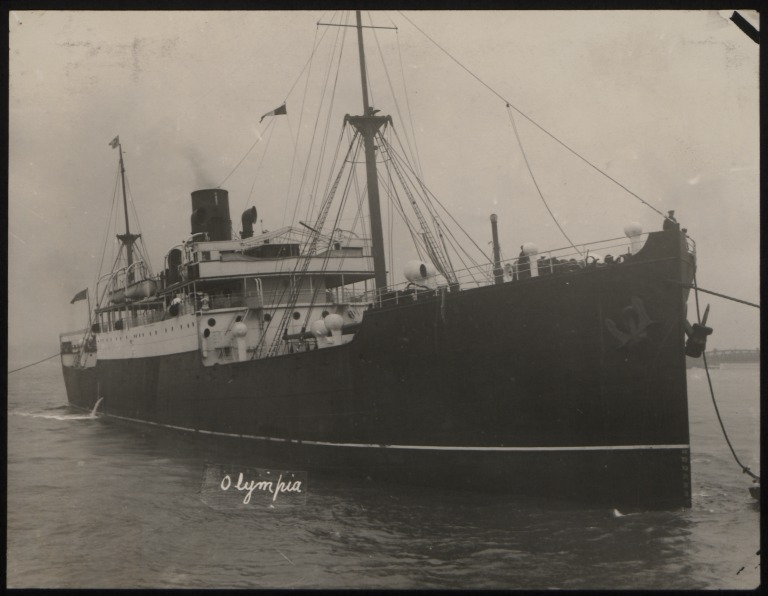 Photograph of Olympia, Anchor Line card