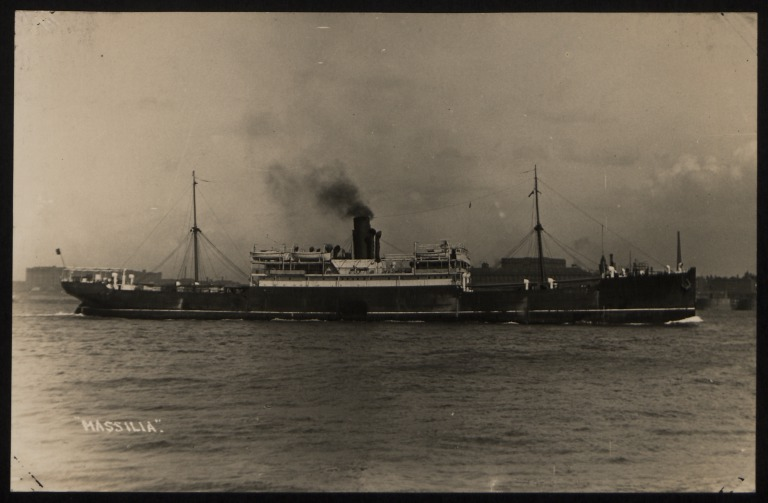 Photograph of Massilia, Anchor Line card