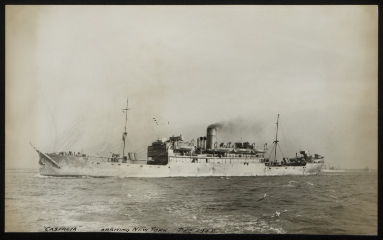 Photograph of Castalia, Anchor Line card
