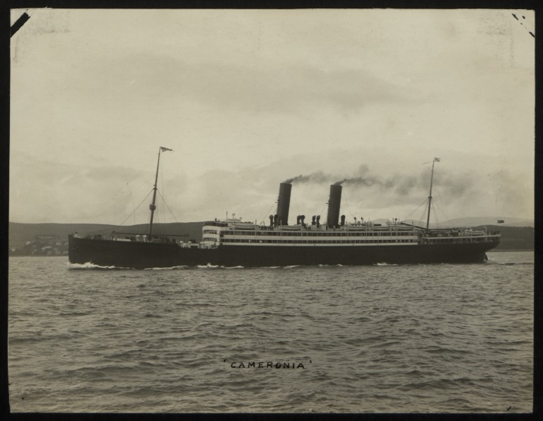Photograph of Cameronia, Anchor Line card