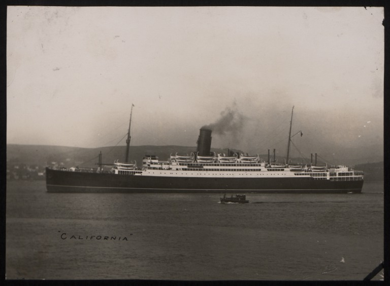 Photograph of California, Anchor Line card