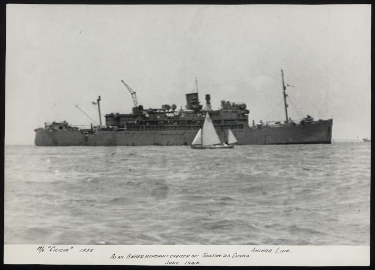 Photograph of Cicilia, Anchor Line card