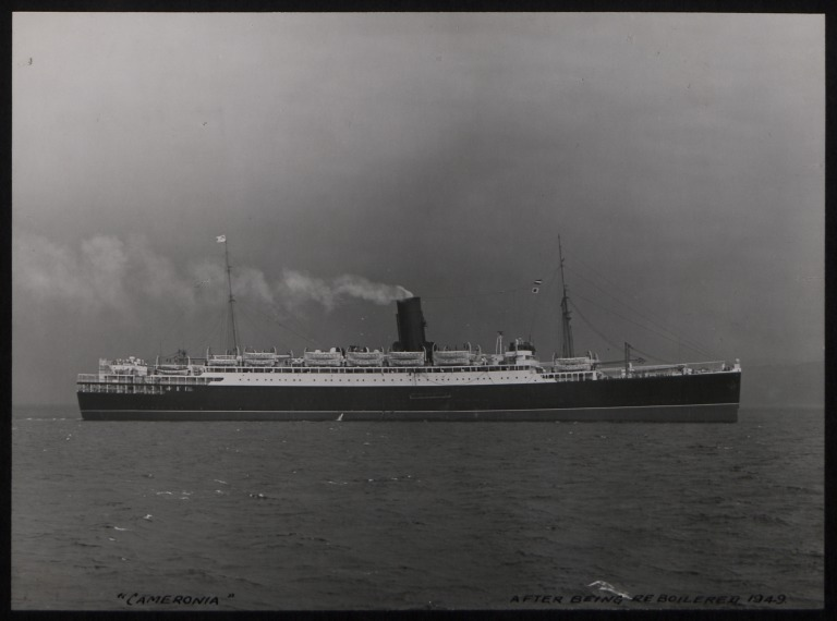 Photograph of Cameronia, Anchor Line card