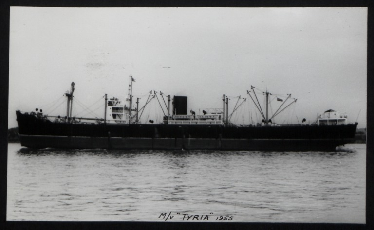 Photograph of Tyria, Anchor Line card