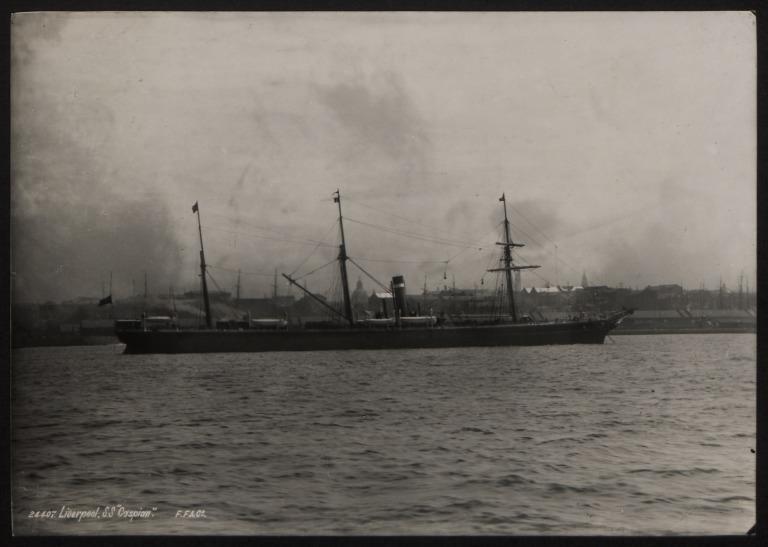 Photograph of Caspian, Allan Line card