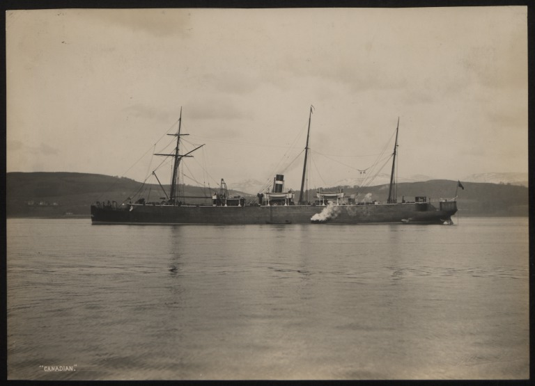 Photograph of Canadian, Allan Line card