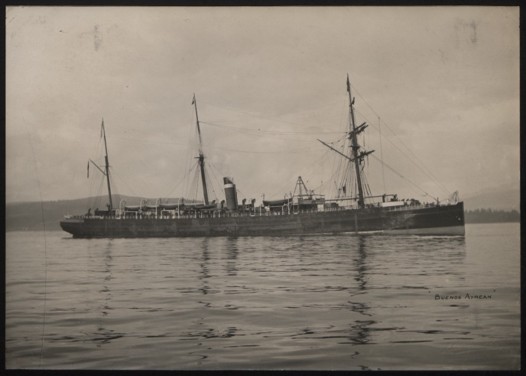 Photograph of Buenos Ayrean, Allan Line card