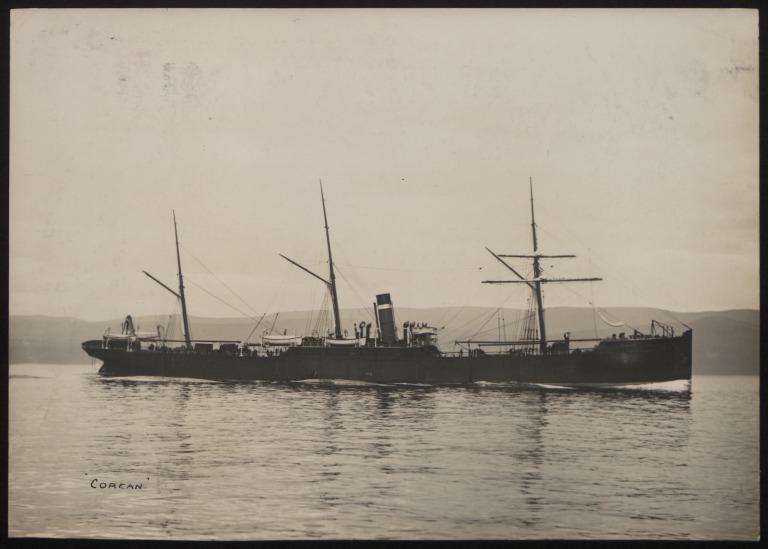 Photograph of Corean, Allan Line card
